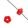 Forget-me-not Flower Beads 5mm Red Alabaster Opaque